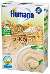 Каша Humana безмолочная цельнозерновая 5 злаков органическая сухая