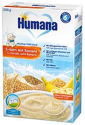 Каша молочная Humana 5 - Злаков с бананом 200г сухая
