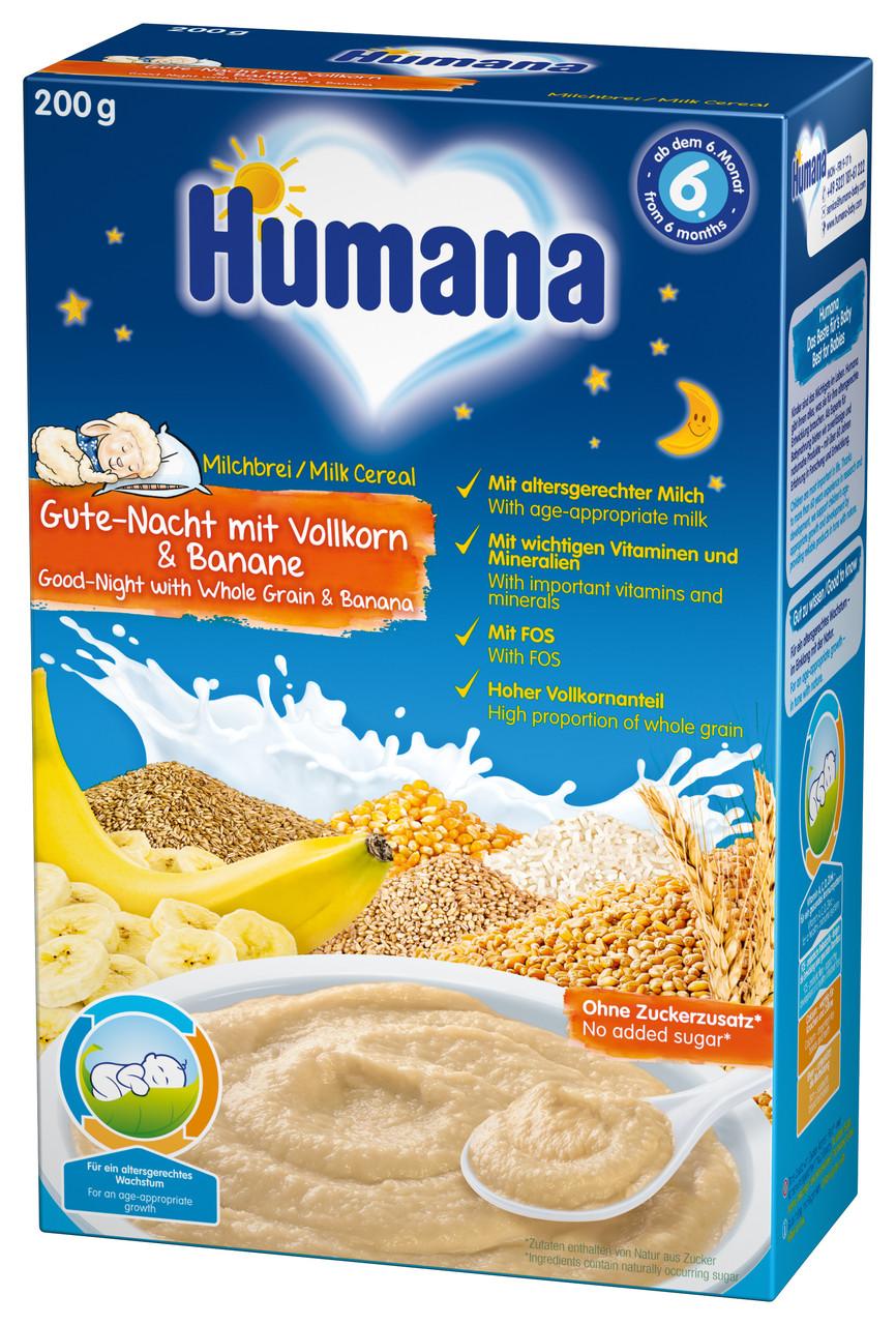 Каша молочная Humana Сладкие сны цыльнозернова с бананом 200г сухая