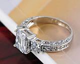 Кільце позолочене з кристалами код 313, фото 2