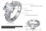 Позолоченное кольцо с кристаллами код 313, фото 4