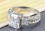 Позолоченное кольцо с кристаллами код 313, фото 5