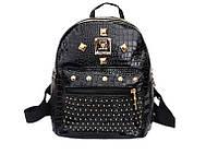 Модный черный женский рюкзак код 3-224