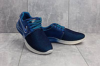 Кроссовки CrosSAV 41 (Nike Roshe Run) (лето, мужские, текстиль, синий-голубой)