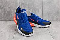 Кроссовки А 358 -24 (Nike AirMax 270) (весна/осень, мужские, текстиль, синий-оранжевый) О