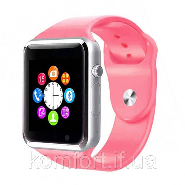 Умные смарт часы Smart watch A1 Розовый
