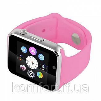 Умные смарт часы Smart watch A1 Розовый, фото 2