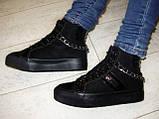 Ботинки женские зимние черные С505, фото 5