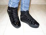Ботинки женские зимние черные С505, фото 6