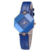 Жіночі наручні годинники з синім ремінцем код 235