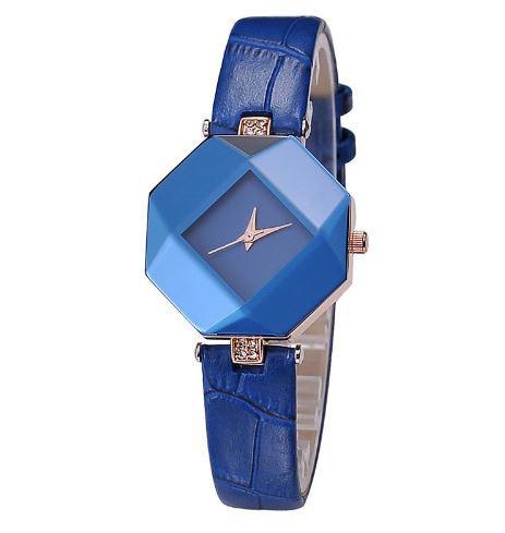 Женские наручные часы с синим ремешком код 235