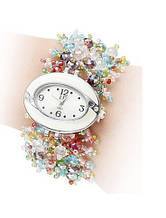 Жіночий наручний годинник з кольоровим пасочком код 238