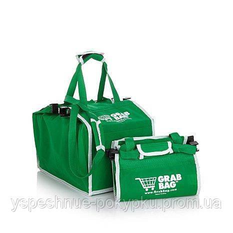 Сумка для покупок в супермаркете с креплениями Grab Bag 2 шт.