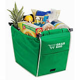 Сумка для покупок в супермаркете с креплениями Grab Bag 2 шт., фото 3