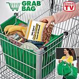 Сумка для покупок в супермаркете с креплениями Grab Bag 2 шт., фото 4