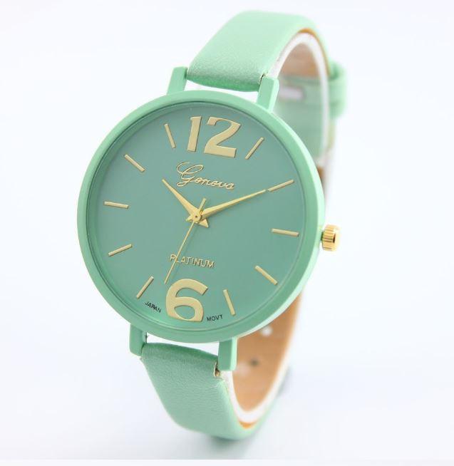 Наручные часы Женева с мятным ремешком код 245