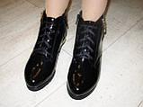 Ботинки женские черные натуральная кожа Д494, фото 7