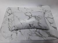 Подлокотник для маникюра с ковриком (белый мрамор)