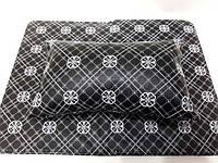 Подлокотник для маникюра с ковриком (черный с узорами)