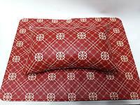 Подлокотник для маникюра с ковриком (красный с узорами)