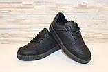 Слипоны черные женские на шнурках Т673, фото 4