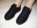 Слипоны черные женские на шнурках Т673, фото 5