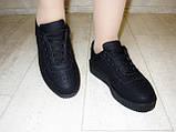 Слипоны черные женские на шнурках Т673, фото 7