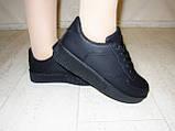 Слипоны черные женские на шнурках Т673, фото 8