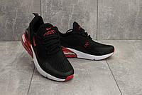 Кроссовки G 5074 -8 (Nike AirMax 270) (весна/осень, мужские, текстиль, черный-красный)