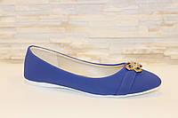 Балетки женские синие пряжка Т749, фото 1