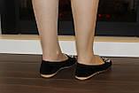 Туфли женские черные с камнями Т756, фото 5