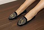 Туфли женские черные с камнями Т756, фото 6