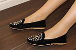Туфли женские черные с камнями Т756, фото 7