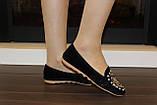 Туфли женские черные с камнями Т756, фото 9