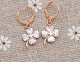 Позолочені сережки з кристалами код 1121, фото 2