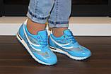 Кроссовки голубые женские Т785, фото 6