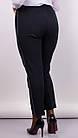 Брюки женские прямые укороченные супербатал Линда черный , фото 4