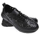 Кроссовки черные летние Т792, фото 5