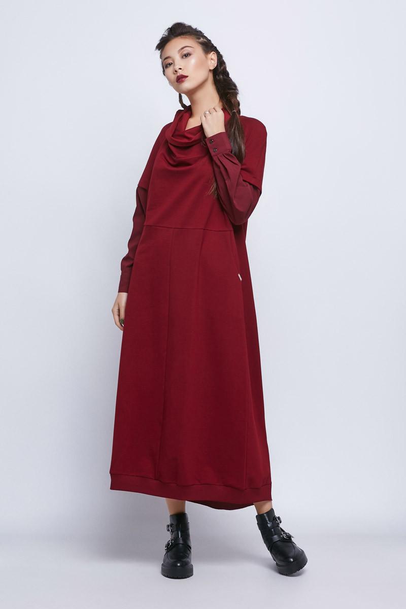 2066 платье Кларис, бургунди (42-46)