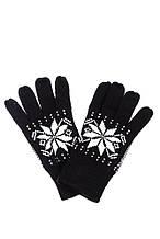 Перчатки вязанные с узором AG-0008317 Черно-белый