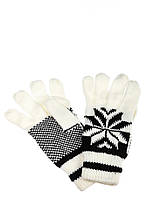 Перчатки вязанные женские AG-0008318 Бело-черный