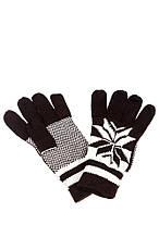 Перчатки мужские теплые AG-0008319 Коричнево-белый