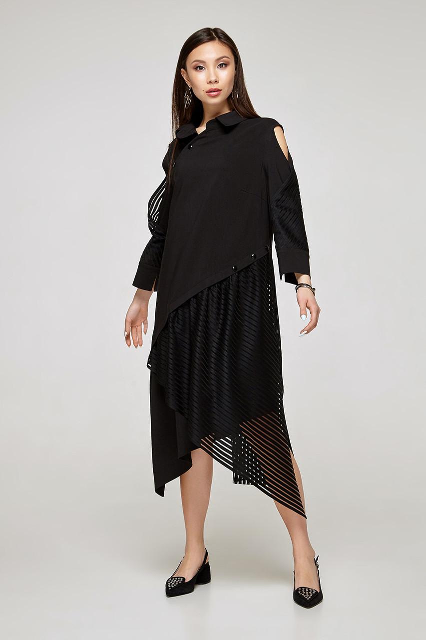 2329 платье Блэк стрип, черный (S)