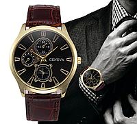 Наручные мужские часы с коричневым ремешком код 294, фото 1