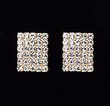 Сережки зі стразами золотисті код 1227, фото 2
