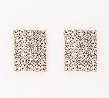Сережки зі стразами золотисті код 1227, фото 4