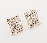 Сережки зі стразами золотисті код 1227, фото 5