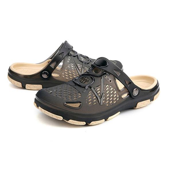 МужчиныBreathableHollowOutsПляжныйТапки Дождливые дни Сандалии Обувь - 1TopShop