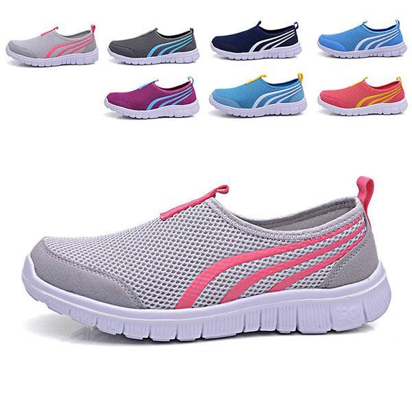Унисекс спорта кроссовки случайные открытый дышащие удобные сетки спортивная обувь - 1TopShop
