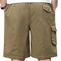 МужскоелетоБольшойразмерLooseДоставка Шорты Повседневный хлопок Multi Pocket Эластичные шорты Брюки - 1TopShop, фото 2